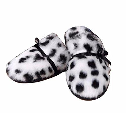 Elais J Femmes Pantoufles En Fausse Fourrure En Peluche Chaude En Caoutchouc Sabot Leopard-ab