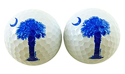 South Carolina Golf Ball Pack with Palmetto State Flag Image, Set of 2