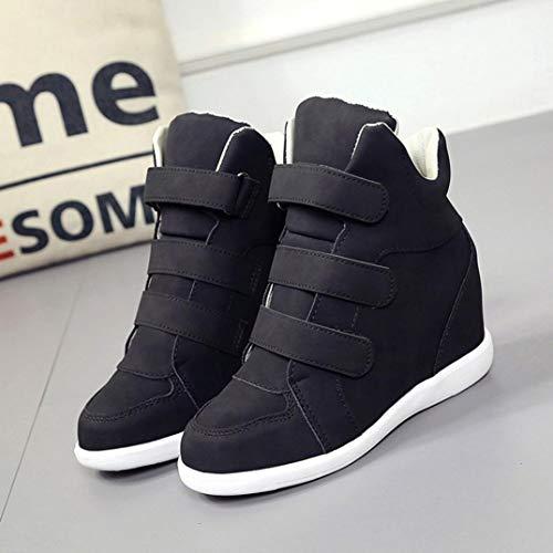 de Dama PAOLIAN Otoño Moda 2018 Terciopelo Bajos cuña Tacón Calzado Botas Mujer Negro Zapatos Invierno de Botines Plataforma Tallas Señora para Zapatillas Casual Grandes pSYqTwHT