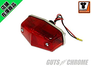 Chrome Tail Lamp Small Lucas Style fits Harley-Davidson