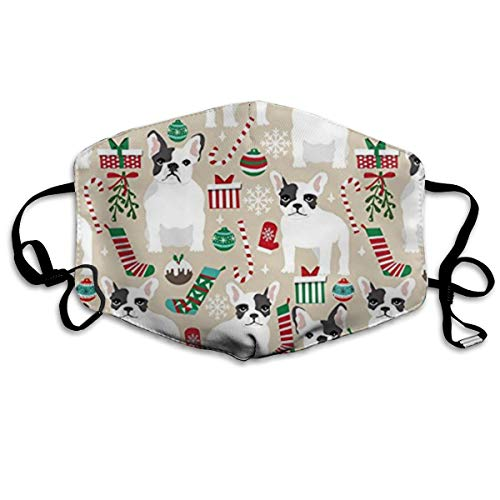 NOT French Bulldogs Christmas Personality Lovely Unisex Dust Mask, Suitable for Young Men and Women, Ski Bike Camping Windproof Motorcycle Face Mask