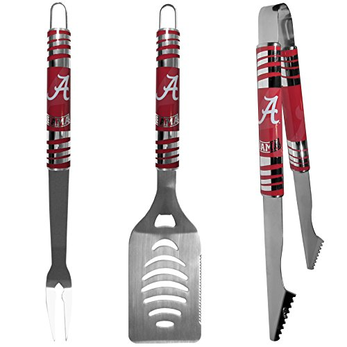 NCAA Alabama Crimson Tide Tailgater BBQ Set (3 Piece), Steel