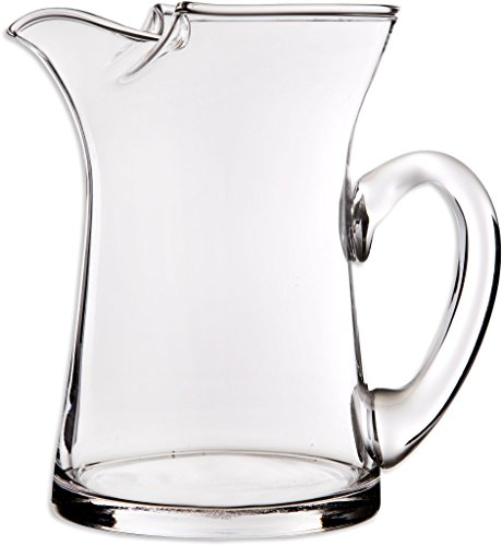 Elegant And Durable 25 Oz Clear Glass Pitcher with Easy Pour Spout and Handle