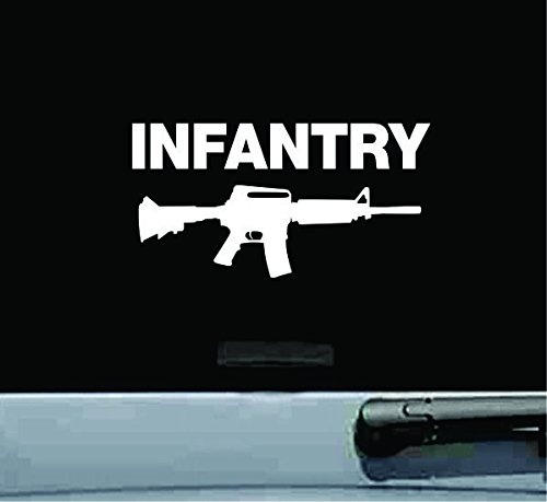 JS Artworks Infantry with Rifle Vinyl Decal Sticker