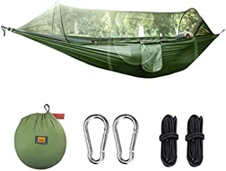 H&M Portable Camping Hammock Camping Hammock with Trees Straps Portable for Travel Beach Hiking