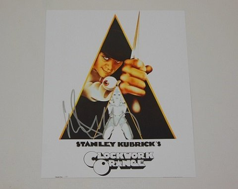 A Clockwork Orange Malcolm McDowell Signed Autographed 8x10 Glossy Photo Loa -