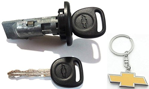 Chevy Ignition Lock Cylinder w/ 2 OEM Bowtie Logo Keys - ()