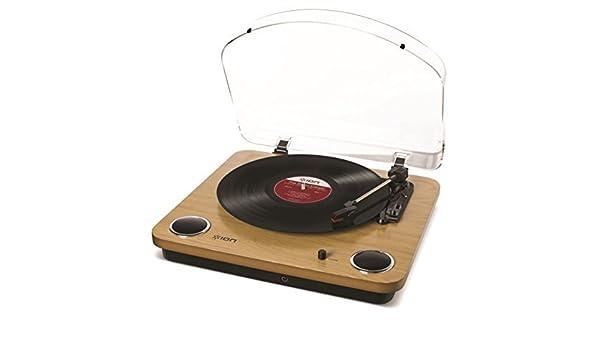 ION Audio MAX LP Madera - Tocadiscos (Madera, Lana, 33 1/3,45,78 ...