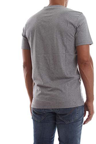 Mid Heather Cotton T shirt Calvin Sleeve Front Klein Logo Short Grey q8wqWgaBS
