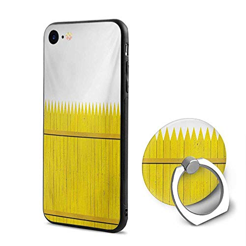 Yellow iPhone 6/iPhone 6s Cases,Colorful Wooden Picket Fence Design Suburban Community Rural Parts of Country Yellow Mustard,Design Mobile Phone Shell Ring Bracket]()