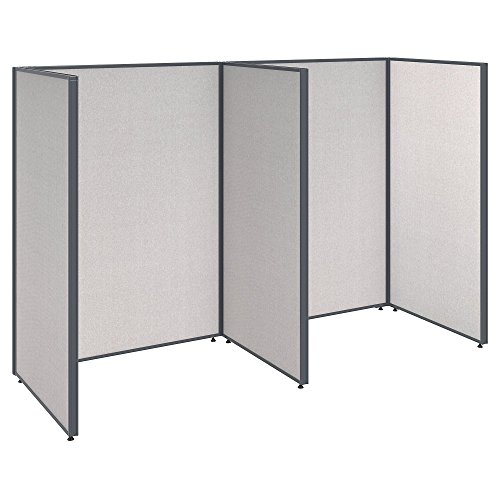 Bush Business Furniture ProPanels 2 Person Open Cubicle Office in Light - Propanel Cubicle