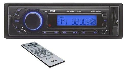 - Car Stereo Head Unit Receiver - Premium AM/FM Media Radio w/ MP3 Playback, USB/SD Memory Card Readers, LCD Digital Display & Bluetooth Connectivity - Wiring & Remote Control Included - Pyle PLR27MPBU