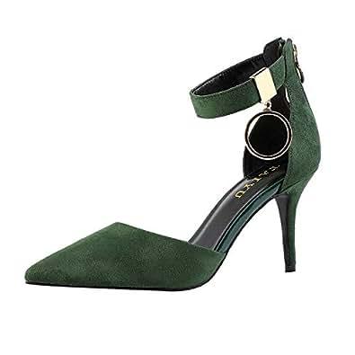 Taiyu Green High Heels Shoes for Women Heel Height 3.15inch
