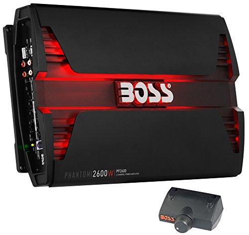 BOSS AUDIO PF2600 Phantom 2600 Watt, 4 Channel, 2/4 Ohm Stable Class A/B, Full Range, Bridgeable,...