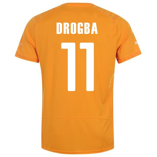 PUMA DROGBA #11 IVORY COAST HOME JERSEY WORLD CUP 2014 (2XL)