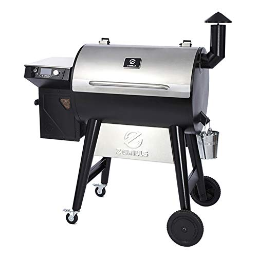 Z GRILLS ZPG-7002F2 8-in-1 Wood Pellet Stainless Steel Grill Smoker for Outdoor BBQ Cooking with Digital Temperature…