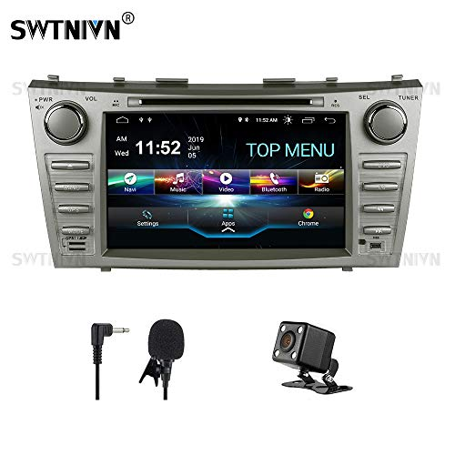 SWTNVIN Camry Car Stereo for 2007 2008 2009 2010 2011,Android 9.0 Double Din in-Dash 8 Inch Touch Screen Multimedia Receiver with Bluetooth GPS Navigation Radio Audio DVD Player TPMS Steering Wheel