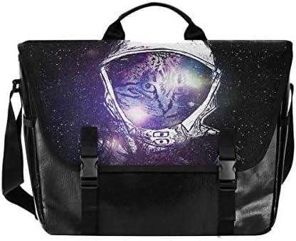 メッセンジャーバッグ メンズ 星空 宇宙人 猫柄 斜めがけ 肩掛け カバン 大きめ キャンバス アウトドア 大容量 軽い おしゃれ