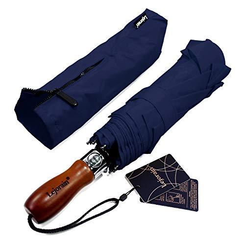 Lejorain 54inch Large Umbrella Auto Open Close,Folding Golf