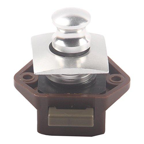Malxs Mini Push Button Catch Lock Cupboard Door Knob Small