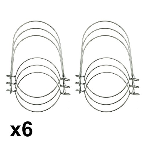 Silver Stainless Steel Wire Handles for Mason, Ball,Canning Jars (6 Pack) (Wide Mouth)
