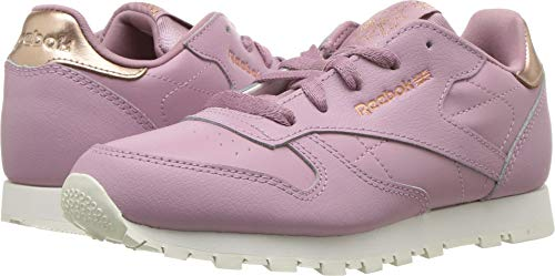 Reebok Unisex Classic Leather Sneaker, rm-Infused Lilac/Chalk, 3 M US Little Kid