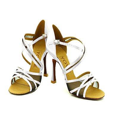 Cn34 dançar Cetim 35 Latina Baile Senhoras Us5 Salão Violeta De Xiamuo Adaptado Personalizáveis Uk3 Calcanhar Ue Sapatos Preto T8qZSE