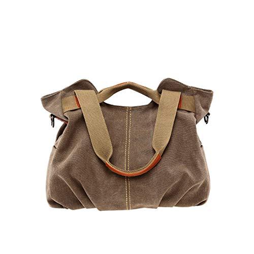 (Large Capacity Casual Vintage Hobo Canvas Handbags Handbags Women Bags,Brown)