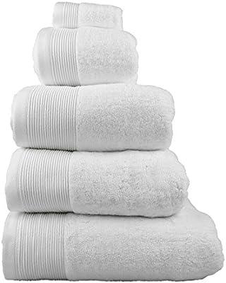 Homescapes - Toalla suave de lujo supremo y absorbente, hecha de algodón egipcio, color blanco 700 g/m², algodón egipcio, blanco, Essuie-mains 50 x 90 cm: Amazon.es: Hogar