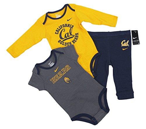 Nike NCAA Boy's California Golden Bears Cal 3 Piece Creeper Pants Set (24 Months)