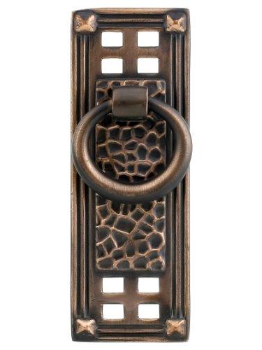 Emtek Arts & Crafts Door (Arts & Crafts Vertical Ring Pull In Oil-Rubbed Bronze)