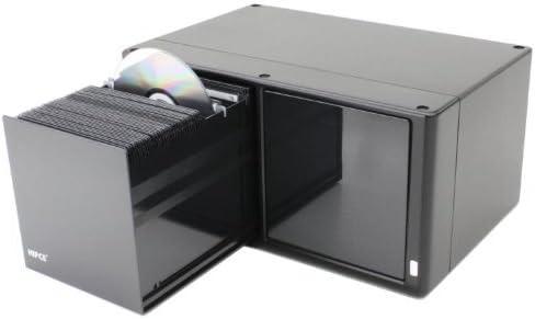 hipce One Touch 160 CD/Caja de DVD – Acabado Metálico, color negro ...