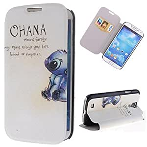 TOPQQ Pretty Rabbits Pattern PU Leather Full Body Case with Stand and Card Slot for Samsung Galaxy S4 I9500