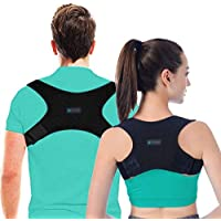 Posture Corrector for Men and Women, USA Designed - Adjustable Upper Back Brace for Clavicle Support and Providing Pain Relief from Neck, Posture Support - Back Brace - Kyphosis Brace (Regular)