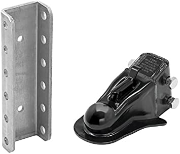 0091555 2-5//16 Channel Mount Heavy Duty Cast Coupler with 5 Position Channel and Fasteners Buyers Products