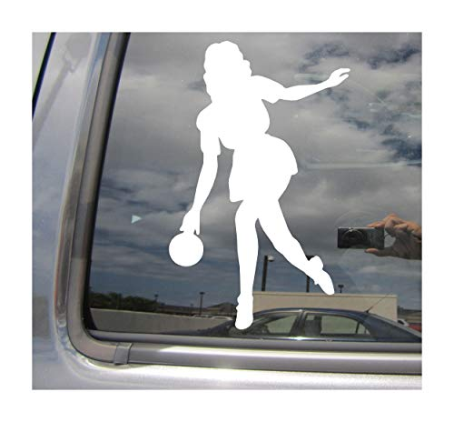 - Right Now Decals - Girl Bowler - Bowling Women Lady - Cars Trucks Moped Helmet Hard Hat Auto Automotive Craft Laptop Vinyl Decal Window Wall Sticker 04141