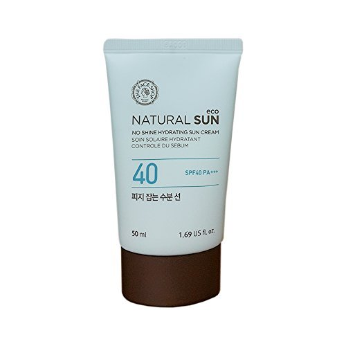 The Face Shop Natural Sun Eco Sebum Control Moisture Sun SPF40PA+++ 50ml/No Shine Hydrating Sun Cream 2016. Mar. New Upgrade (Serum Sebum Control)
