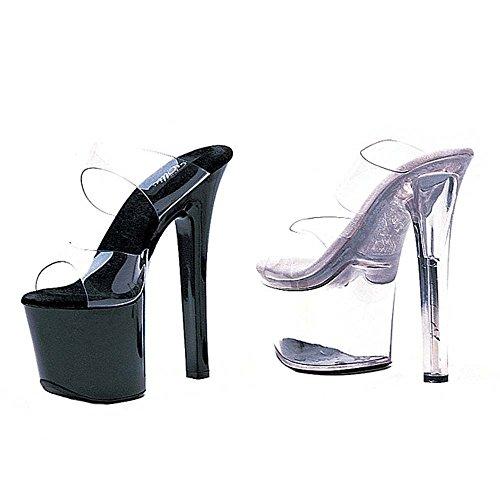 8 Cinghia 711 7 Sandali Black coco Tallone Ellie Chiare Shoes Sexy Doppie BCqUwPU