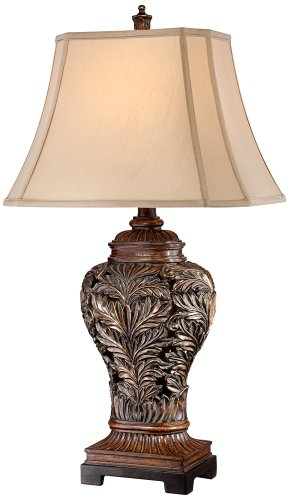 Bronze Openwork Vase Table Lamp from Barnes and (Bronze Leaf Accents Table Lamp)