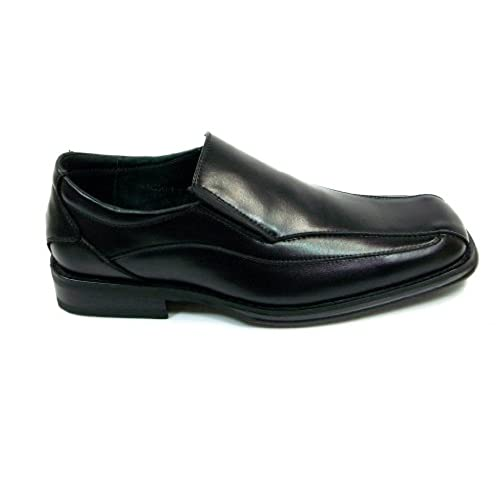417ddcd219a2 Mens Black Square Toe Zota Exchange Leather Dress Casual Slip On Shoes  85%OFF