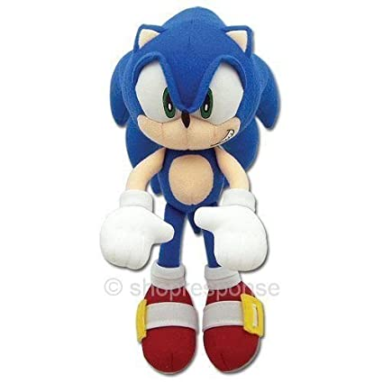 Amazon Com Sonic The Hedgehog Sonic Plush Doll Key Chain Coin Bag