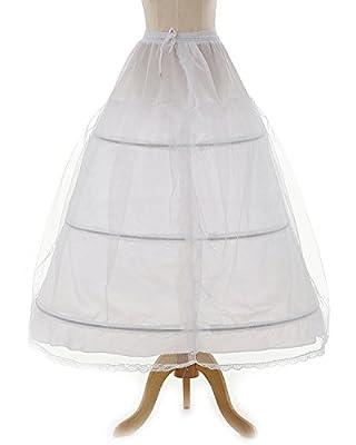 OYISHA Women's 3 Hoops Floor Length Wedding Petticoat for Prom Quinceanera Dress PE08