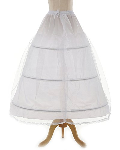 OYISHA Women's 3 Hoops Floor Length Wedding Petticoat for Prom Quinceanera Dress PE08 -