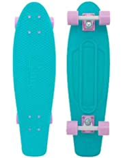 Penny 27 inch Mint Skateboard, Turquoise/Pink