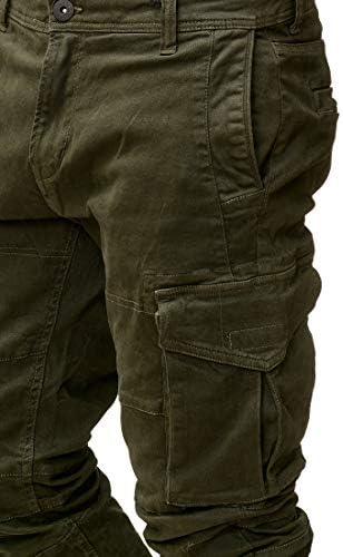 Indicode Caballeros Rayane Pantal/ón Cargo En Algod/ón con 8 Bolsillos Largo Regular Fit Pantalones De Tiempo Libre Senderismo Trekking Men Pants Aire para Hombres