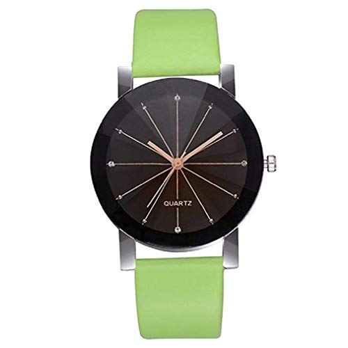 - Fashion Clearance Watch! Noopvan Womens Quartz Watches Minimalist Metal Retro Round Dial Quartz Analog Alloy Wrist Watch with Leather Band and Stainless Steel Dial, Lady Watches XJY-12 (Green)