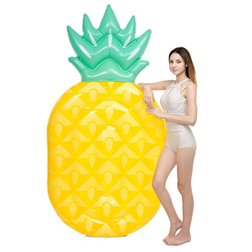 JOYIN 84 Giant Inflatable Pineapple Pool Float, Fun Beach Floaties, Swim Party Toys, Pool Island, Summer Pool Raft Lounge for Adults & Kids