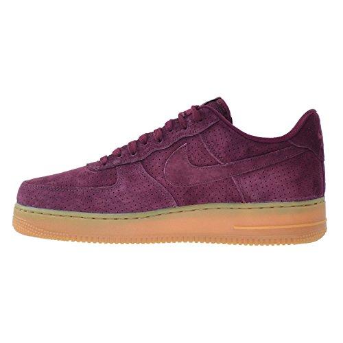 Nike Air Force 1'07Suede zapatos de la mujer Deep Garnet/Deep Garnet 749263–600