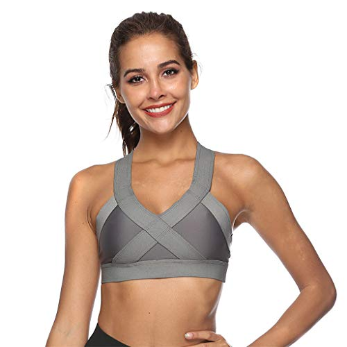 WUAI Womens Seamless Racerback Sports Bras,High Impact Support for Yoga Gym Workout ()