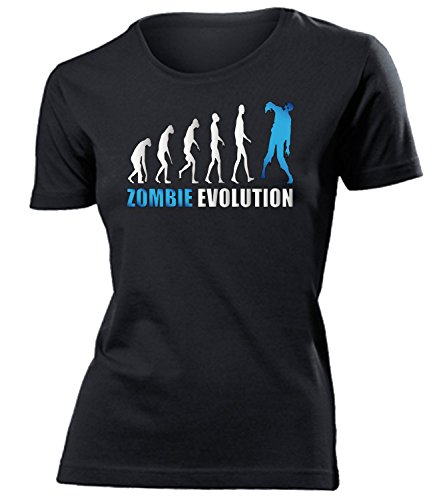ZOMBIE EVOLUTION mujer camiseta Tamaño S to XXL varios colores Negro / Azul